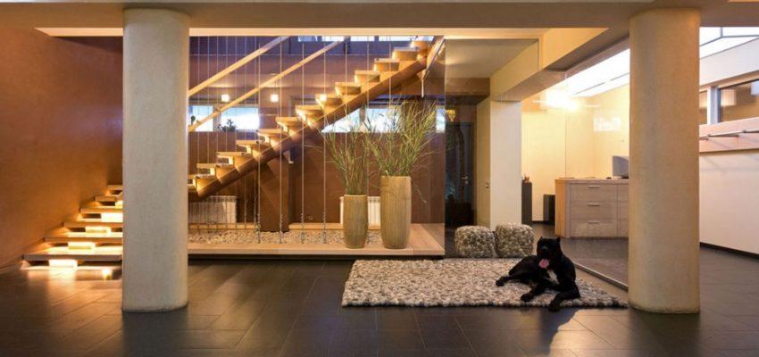 Г-образная бетонная лестница компании «StairsSPB»